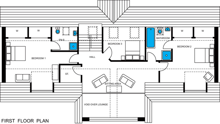 Bute first floor plan roy homes ltd seabreezes building for Local house plans