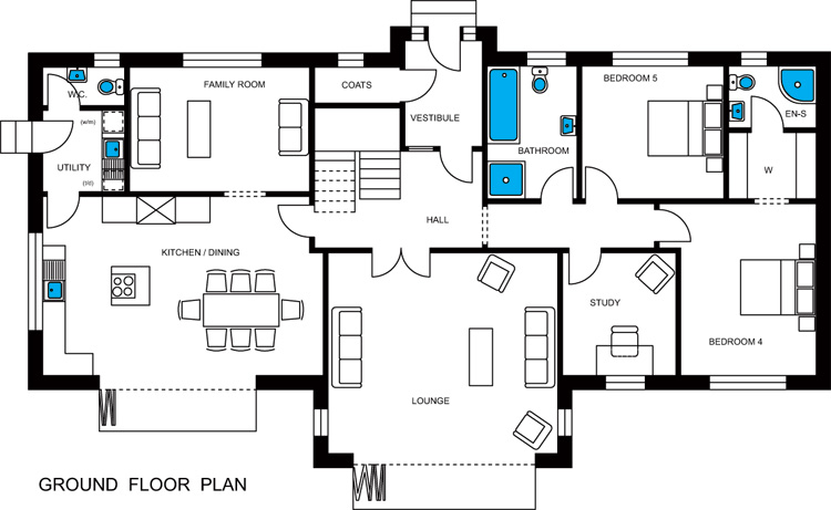 Bute Roy Homes Ground Floor Plan