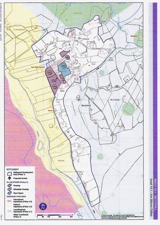 Highland Council Local Plan Bettyhill MAIN MAP RSZ